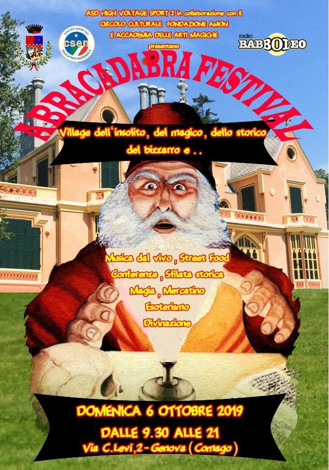 Abracadabra festival 6 ottobre a villa Serra
